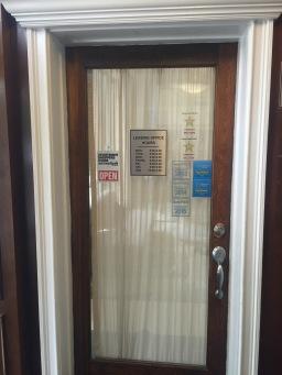leasing office door