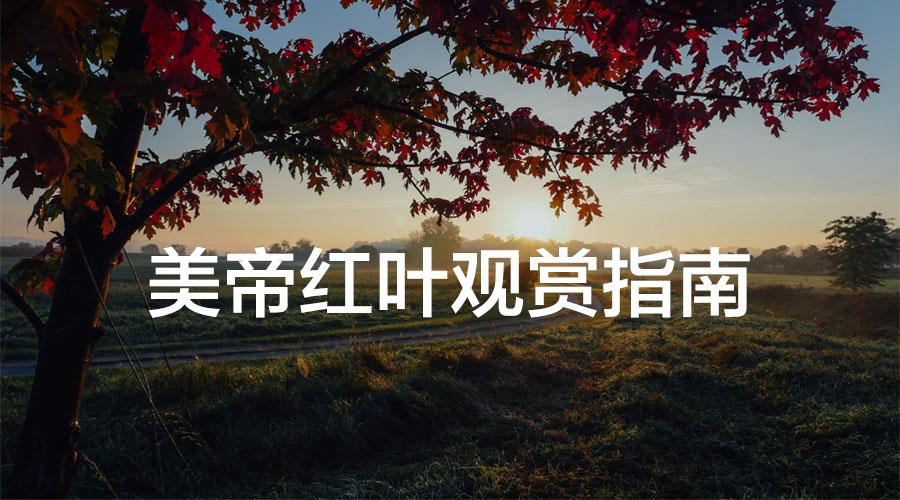 美帝秋天红叶观赏指南!